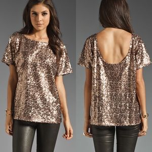 7 for all Mankind sequin rose top XS